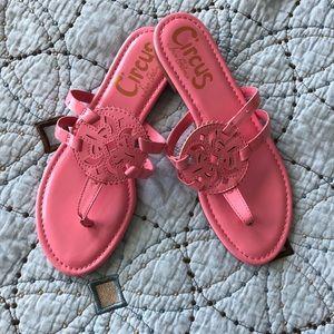 New Sam Edelman Circus Pink Flats Sandals sz 8